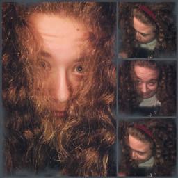 naturalhair curlyhair waves curls silly me selfie michaeljackson thriller cute mixed art