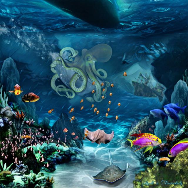 #freetoedit #sealife #fantasyart #fantasy #makebelieve #imagination