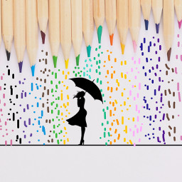 freetoedit coloredpencils rain umbrella colorful ircrainbowcolors rainbowcolors