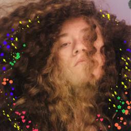 curly naturalhair curlyhair me bighair mixed hollipolliyozza hollieannadercole me selfie art colorful art hair aesthetic