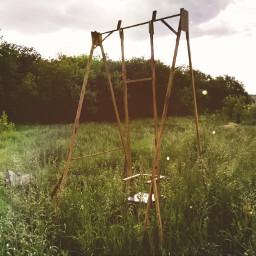 swings photo scenery aesthetic effect