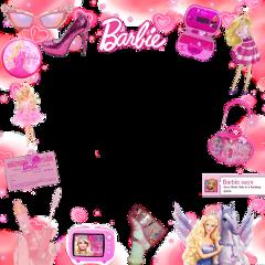 freetoedit frame pinkframe barbie barbiedoll