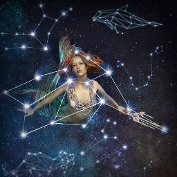 mermaid constellation space freetoedit