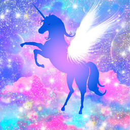 freetoedit glitter sparkle galaxy unicorn