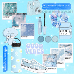 aesthetic blue blueaesthetic hydroflask scrunchie freetoedit
