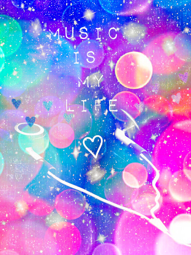 #freetoedit @mpink88 #glitter #sparkle #galaxy #music #earbuds #hearts #love #bokeh #colorful #shimmer #neon #pastel #quotes #sayings #aesthetics #holographic  #background