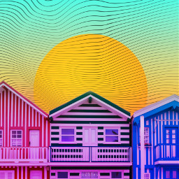freetoedit buildings neon colorful gradient