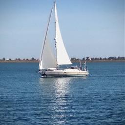 boat sailingboat white calmwaters seawater freetoedit