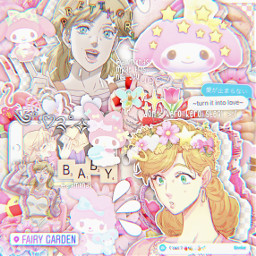 freetoedit animeedit aesthetic jojosbizarreadventure sanrio