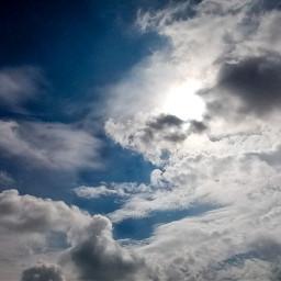 freetoedit sunlight sky heaven blueskywithclouds