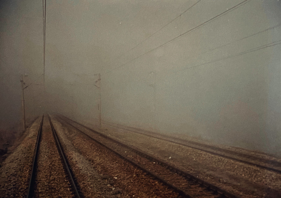 #35mm #filmphotography #analogphotography #noedit #railway #fog #roadtrip #ontheroad