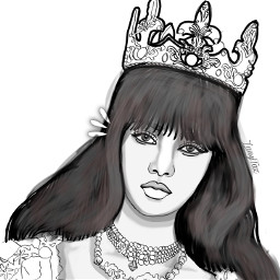queenie portrait drawingart drawing outlineart freetoedit