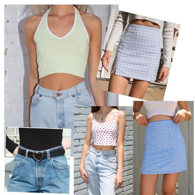 #brandymelville #collage #magazine #plaidskirt #shopping #y2k