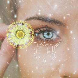 freetoedit aesthetic eye doodles beautiful