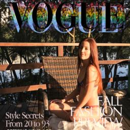 sunset summer summervibes redhairgirl voguemagazine freetoedit