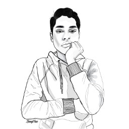 freetoedit outline drawing portrait sketch