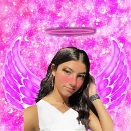freetoedit pink charlidamelio wings halo