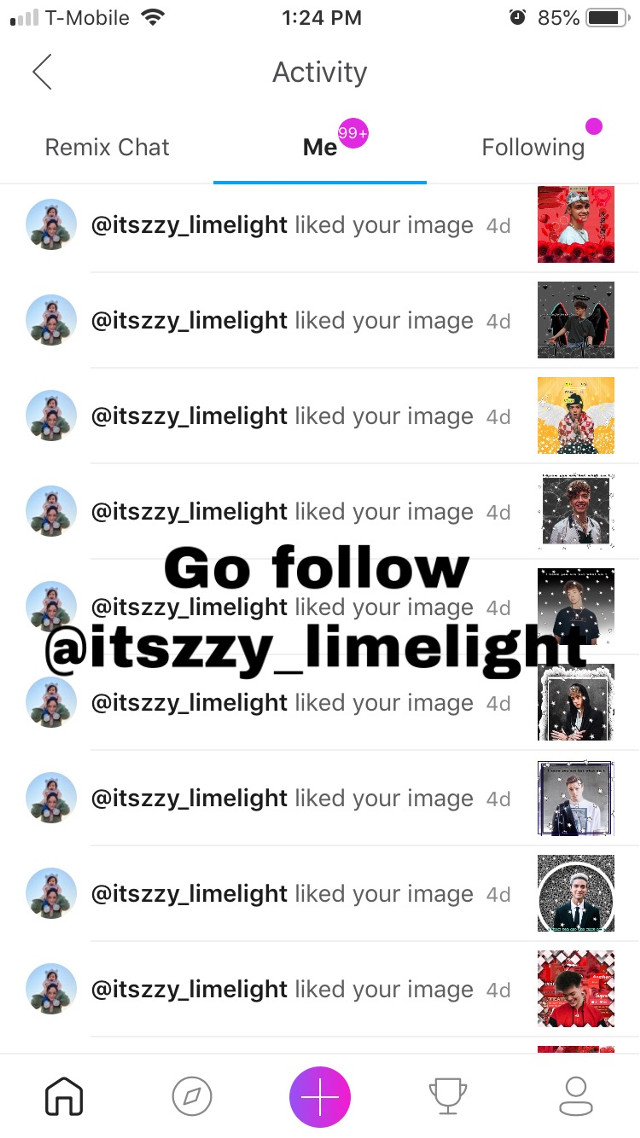Thanks for the spam @itszzy_limelight 🔥🖤
