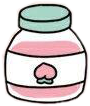 freetoedit jar container pink aesthetic