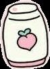 freetoedit peach cute sticker pink