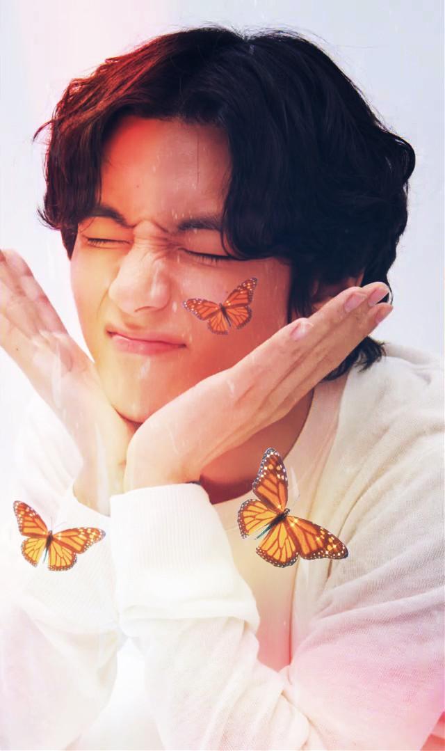 ✨V golden butterfly edit✨  #btsarmy #bts #KimTaehyung #Taehyung #V  #freetoedit