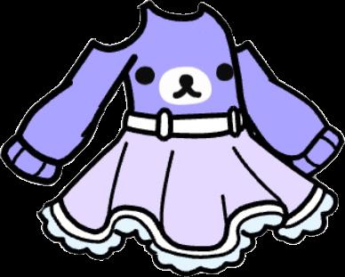 Gacha dress : purple rillakkuma bear 💜🧸 part of a matching set! Go to my profile for more!! #gacha #gachalife #aesthetic #purple #bear #freetoedit