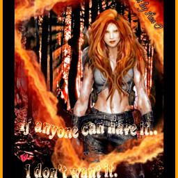 warriorwoman fire red woman statement freetoedit ExpressYourself fcexpressyourself