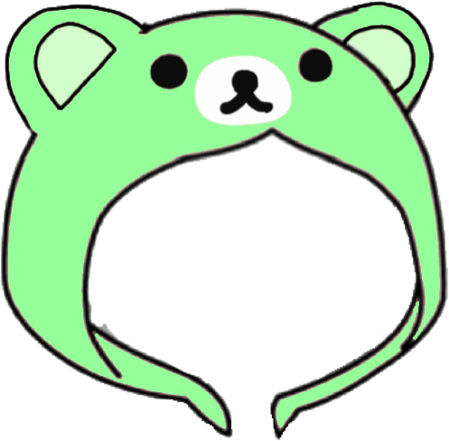 Gacha hood : green rillakkuma bear! 💚💚 this is part of a matching set, go to my profile for more!! #gacha #gachalife #green #greenaesthetic #cute #bear #freetoedit