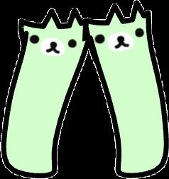 Gacha socks : green rillakkuma bear! 💚💚 this is part of a matching set, go to my profile for more!! #gacha #gachalife #green #greenaesthetic #bear #cute #freetoedit