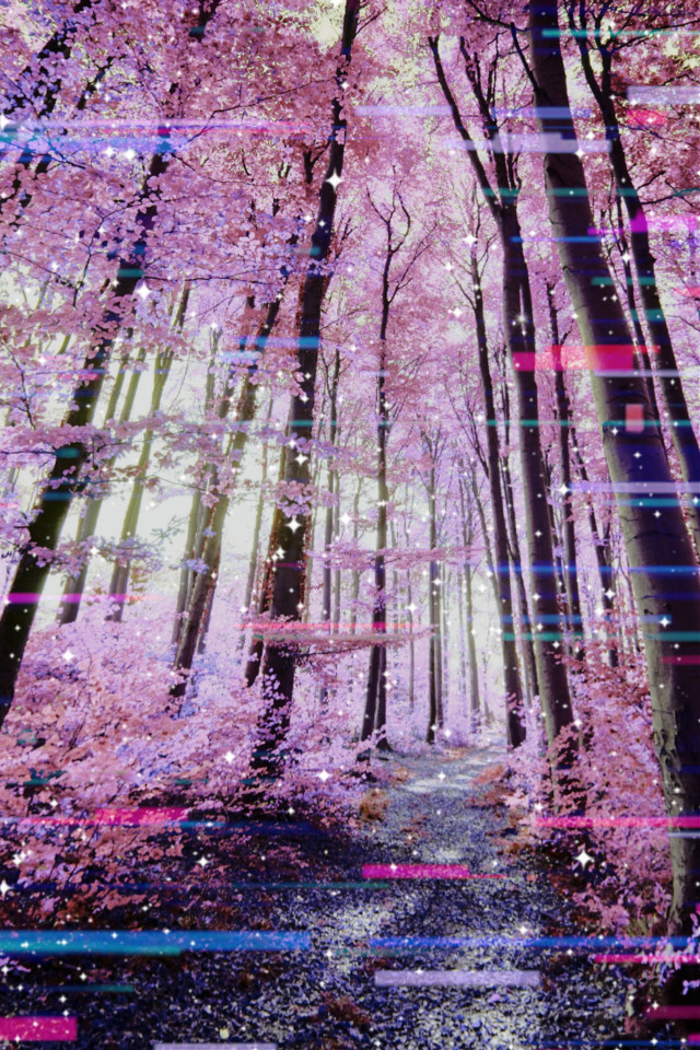 💖💖💖  #freetoedit #forest #glitch #pinkaesthetic #pinkforest
