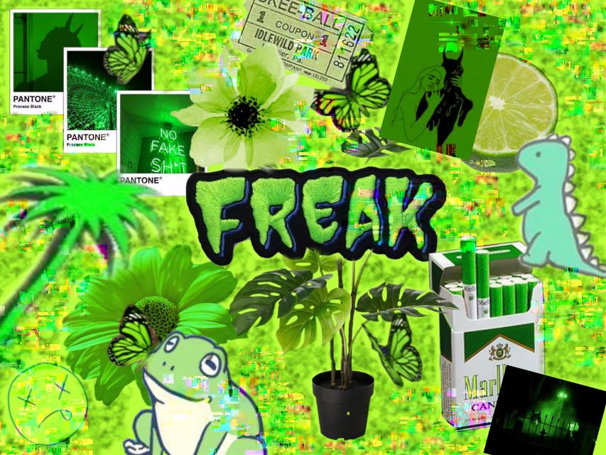 #freetoedit #green #limegreen