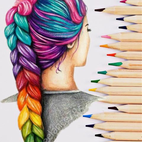 #freetoedit,#ranibow,#rainbowmagiceffect,#pencilart,#pencil_sketching,#ircrainbowcolors