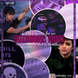 greenday billie billiejoe billiejoearmstrong purple