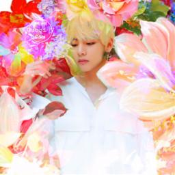 freetoedit flowers aesthetic taehyung bts