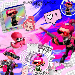 freetoedit splatoon2 octolinggirl collage