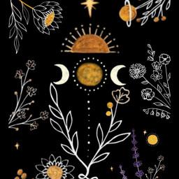 freetoedit flores flower moon luna