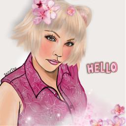 freetoedit hello drawings pretty pink