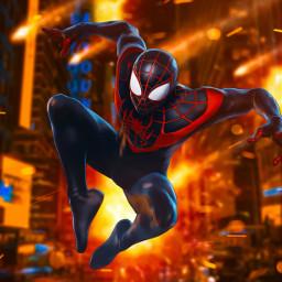 spiderman hero superhero fire explosion