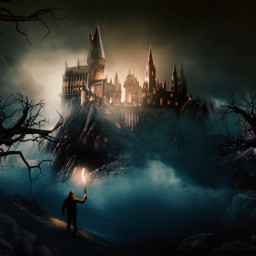 castle photography digitalart asthetic surreal