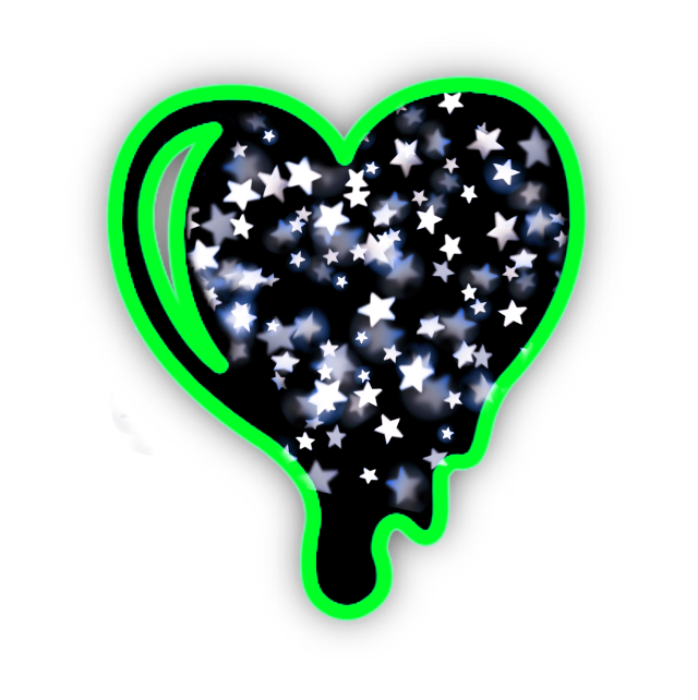 #neon #heart #love #black #grime  #drip #dripping  #blackheart #green #greenheart  #stars #yellow  #colors #background #frames #frame #aesthetic #freetoedit