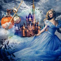 freetoedit cinderella fairytale castle surrealism