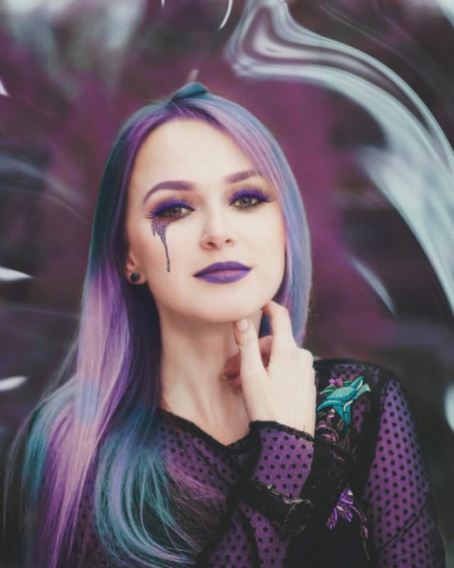 #freetoedit 💜🖤💜 #myedit #girl #papicks #purple #purplemakeover #ripplemask #makeup