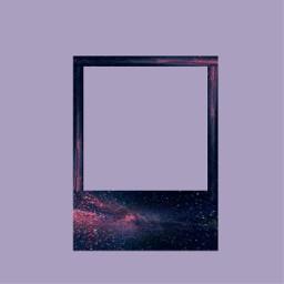 freetoedit polaroid galaxy frame
