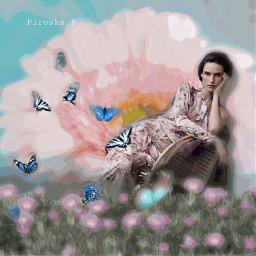 freetoedit myedit editedwithpicsart picsarteffects myart rcholographicbutterflies
