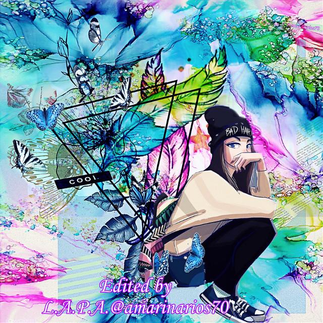 Holographic Butterflies ⬇️⬇️LINK⬇️⬇️   Entry2  https://picsart.com/i/331288696052201?challenge_id=5ef1f9fcd1cd3060af43ba6e   #mybackground #mywork #myediting #editedbyme #editedbyLAPA@amarinarios70 #chica #illustration #digitalart #artist #photography #photographer #photooftheday #replay      @amarinarios70  #freetoedit #rcholographicbutterflies #holographicbutterflies