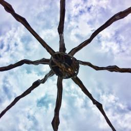 spider sculture esculture araña sky freetoedit