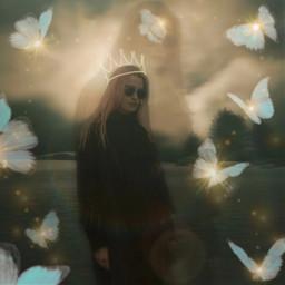 girl girls butterflies freetoedit lights myeditoffreetoedit