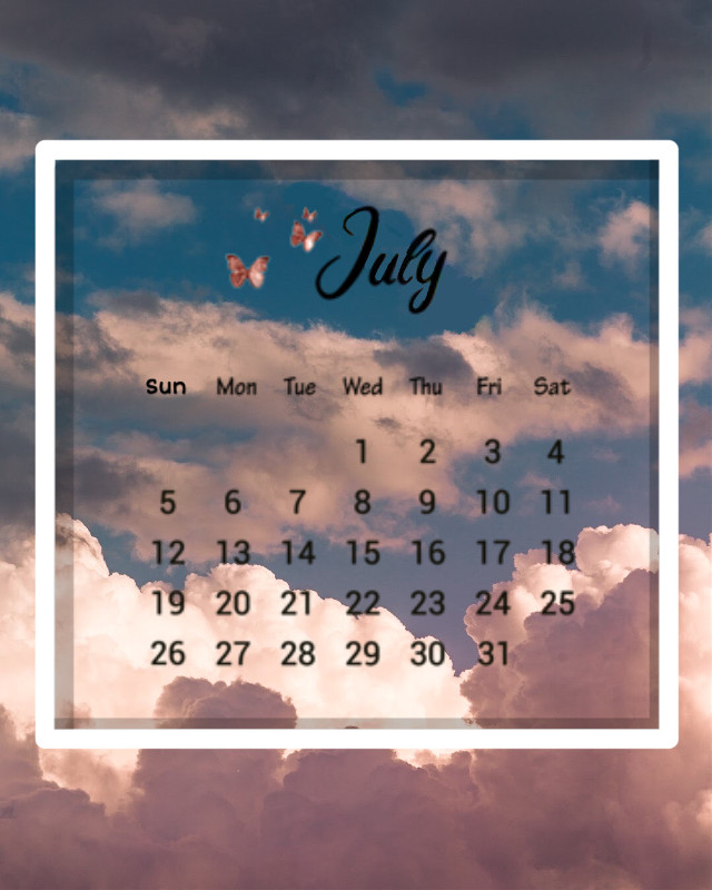 ☁️🍬🎀  #freetoedit #july #summer #calendar #julycalendar #clouds #aesthetic #butterfly #butterflies #asthetic #challenge #calendarchallenge