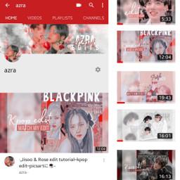 freetoedit bts blackpink youtube youtubechannel