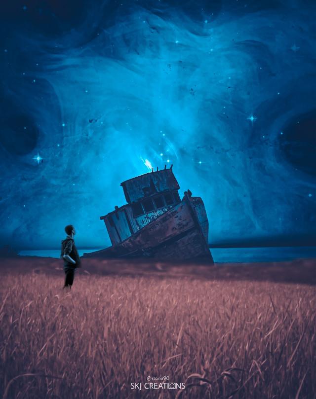 #freetoedit #picsart #myedit #madewithpicsart #man #stepbystepedit #colorful #galaxy #universe #imagination #surreal #ship #destroy